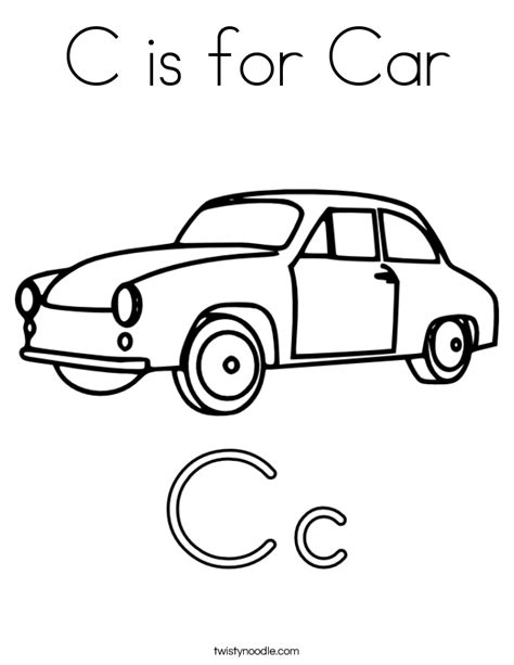 car coloring pages preschool c is for car coloring page twisty noodle