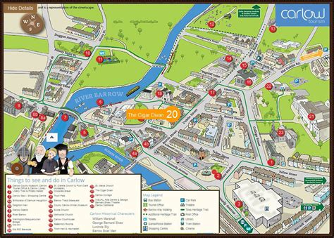 town map maps archives carlow tourism