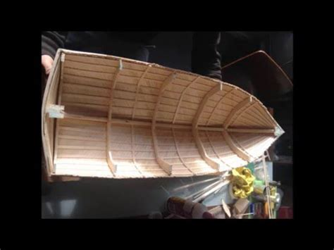 balsawood boat number  building  hull youtube