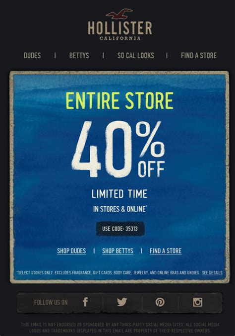 hollister outlet printable coupons hollister promo coupon codes and printable coupons