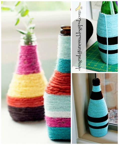 summer craft recycle bottles jars into flower vases