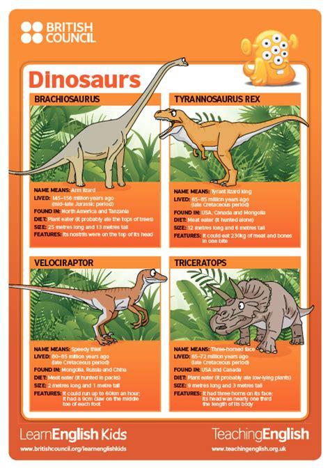 printable dinosaur poster classroom posters dinosaurs teachingenglish british