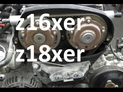 how to replace timing belt cambelt on 1.6 1.8 zafira astra