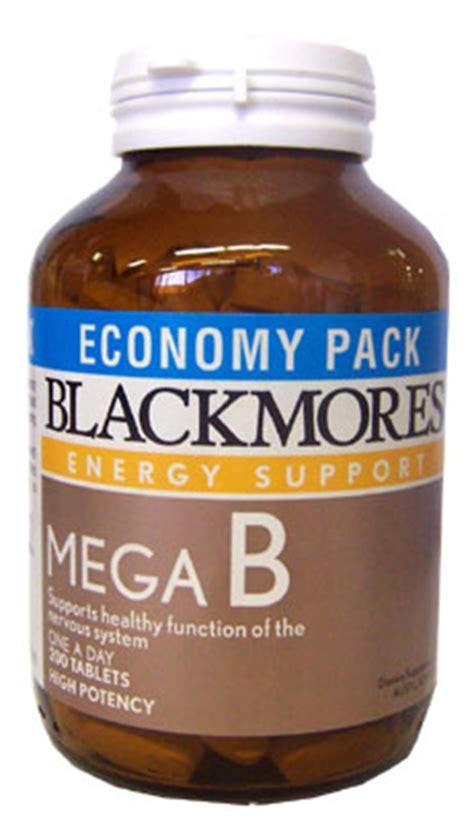 Blackmores Vitamin B Complex blackmores mega b previously b complex 200tabs x 2 bottles