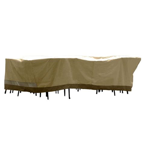 Patio Armor Sf40285 Deluxe Rectangular Patio Table And Chair Set Cover Sf40285