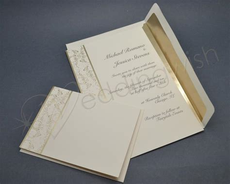 wilton wedding gold sweetheart invitation set 50 count wedding wilton royal lining gold invitation kits x pack and bridal shower dress complete