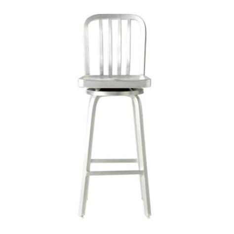 brushed aluminum bar stool micazza home decorators collection sandra swivel bar stool in