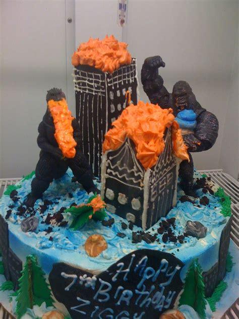 Throw Back King Kong And Godzilla Cake Birthday Boy Pinterest | throw back king kong and godzilla cake birthday boy
