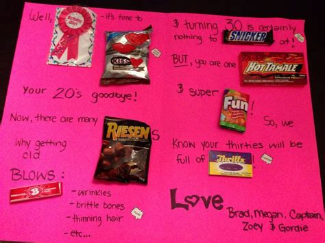 Gift Card Birthday Ideas - 30th birthday card birthday gift ideas pinterest