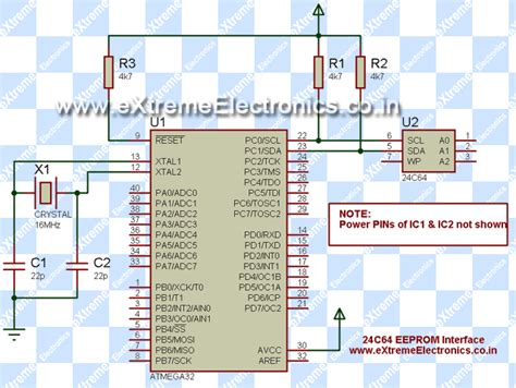 bascom pull up resistor gt circuits gt easy 24c i2c serial eeprom interfacing with avr microcontrollers l26840 next gr