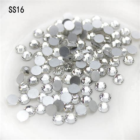 Non Hotfix Flatback Rhinestone 6mm Per Pcs wholesale 1440pcs pack new deals rhinestone ss16 4mm non hotfix rhinestone glue on