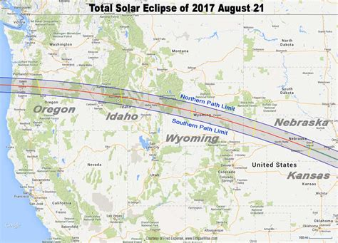 map of oregon path of totality total eclipse of the sun august 21 2017
