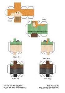 Minecraft Papercraft Templates by Papercraft Alex Minecraft 1 8 Print Me