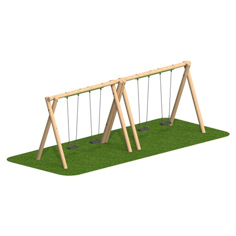 timber swing seat timber swing 4 flat seat playscape playgrounds