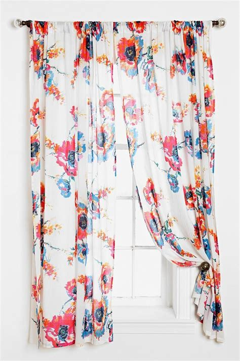 bow curtains plum bow ikat floral curtain urbanoutfitters uohome
