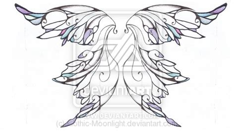 gothic wings tattoos designs images view topic the clans of wildwood faerie roleplay