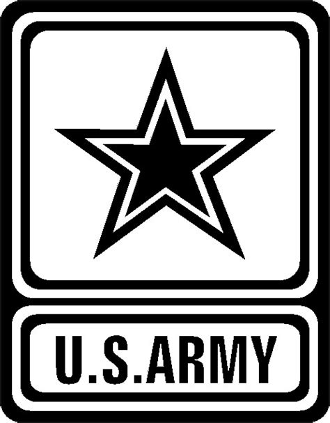 Kemeja Square Army Black White u s army logo black and white clipart clip library