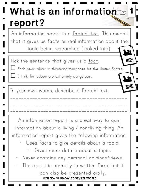 template for information report writing information reports writing unit printables