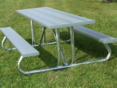 picnic bench table aluminum picnic tables metal park tables national recreation systems