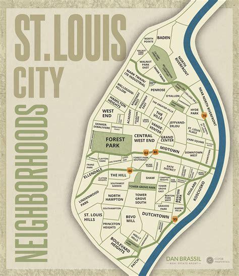 st louis neighborhood map louis city neighborhood guide