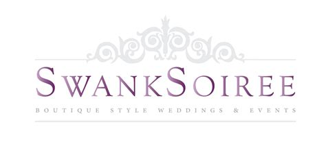 Wedding Emblem Font by Event Planner Swank Soiree S New Logo And Website Logo