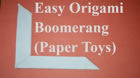 How To Make An Easy Paper Boomerang - how to make a paper boomerang easy origami boomerang