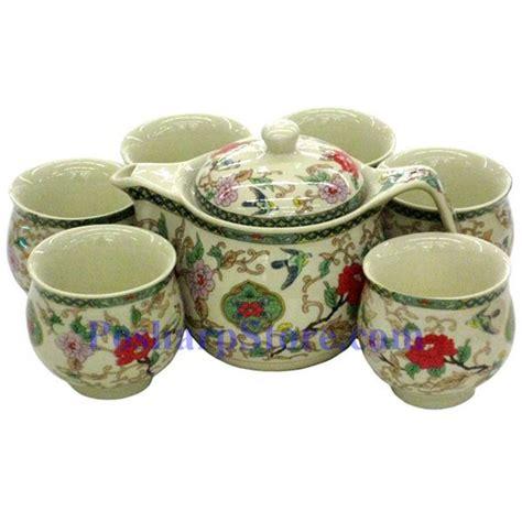 Rumauma Ceramic Tea Pot Set Wave Pattern ceramic peony teapot set