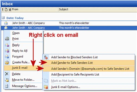 email domain list image gallery hotmail safe senders list