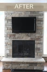 rock brick fireplace before after fireplaces