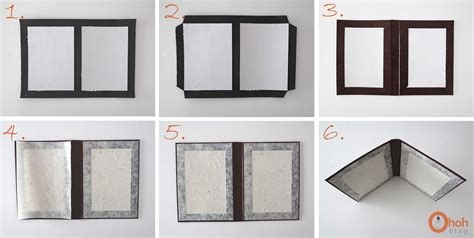 How To Make A Paper Photo Frame - diy cardboard photo frame ohoh