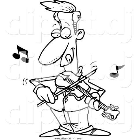 violin player coloring page musicians images clip art 55