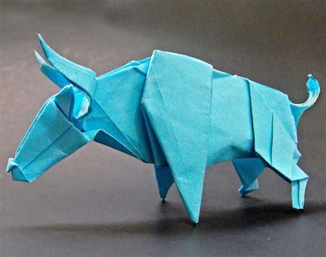 bull origami origami bull by alejandro delafuente on deviantart