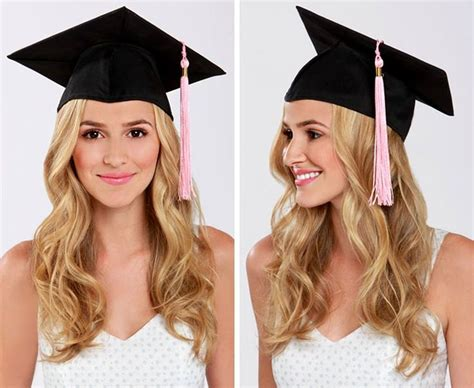 Cute Graduation Hairstyles With Cap | lulus how to graduation cap hair tutorial cap