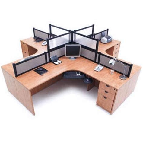 4 person office desk ndi office furniture complete four person workcenter suite