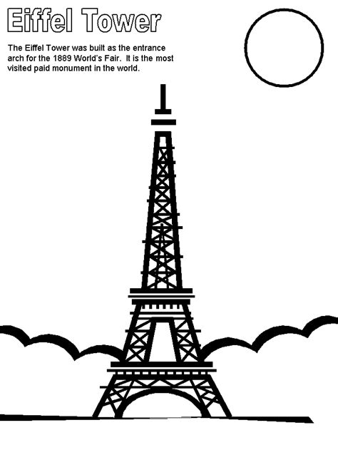 france eiffel tower coloring page eiffel tower france coloring pages coloring book