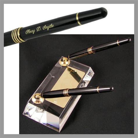 desk pen sets engraved crystal double pen engraved pen desk set the desk works