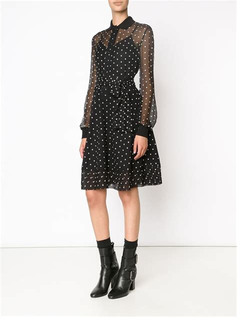 Blouse Dress lyst givenchy cross print blouse dress in black