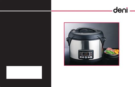 Kitchen Living Pressure Cooker Manual by Deni Electric Pressure Cooker 9780 User Guide