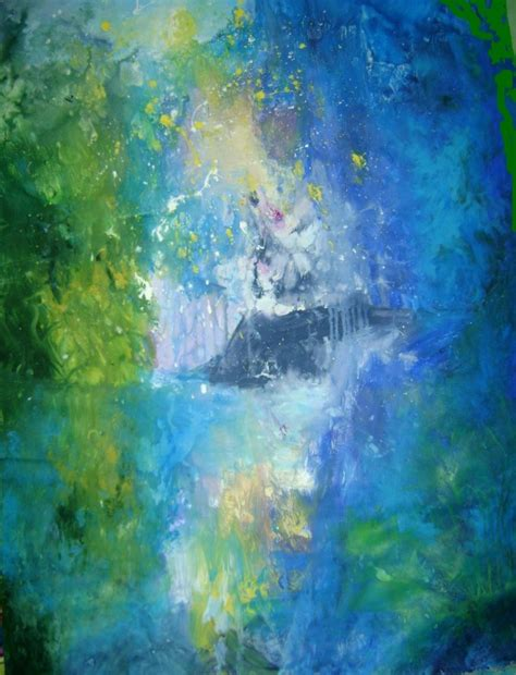 blue green paint blue green abstract painting www imgkid com the image