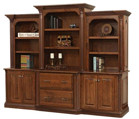 Credenza Bookcase amish credenza with optional bookcase top