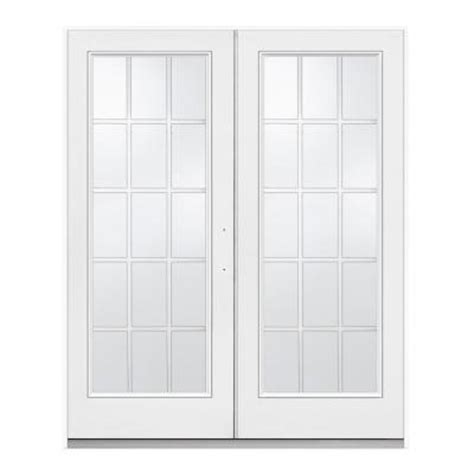 Home Depot Patio Door by Jeld Wen 72 In X 80 In White Right Inswing Steel