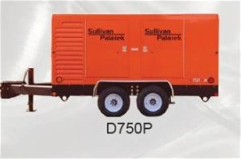 air compressors sullivan palatek rotary high pressure portable skid tractor co