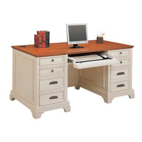 cottage style home office collection in white finish the