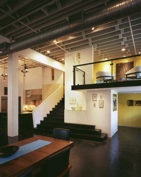 modern loft contemporary loft design with mid century modern interiors