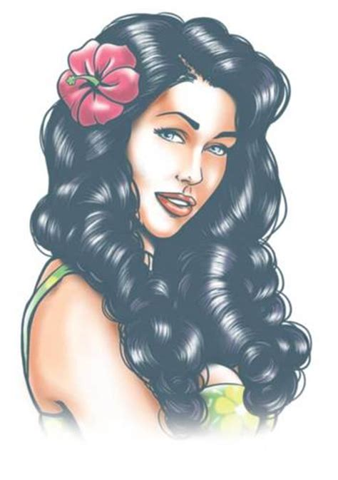 small pin up girl tattoos pin up aloha temporary tinsley transfers inc