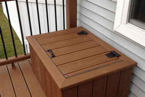 Deck Box Wood by Trex 174 Tree House Deck Box Lake County Rock Solid
