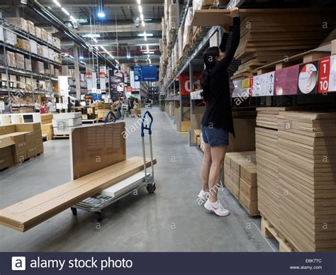 ikea pick up customer picking up furniture at the ikea store warehouse