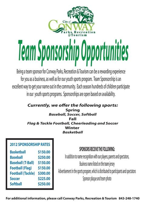 sports sponsorship template powerpoint pin by wendy oborne on softball tournament fundraiser