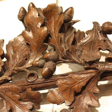 black forest wood carved mirror foxglove antiques