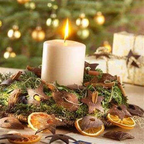 composizioni natalizie con candele centrotavola natale foto pourfemme